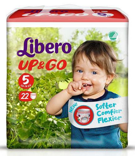 Либеро Памперс гащи Up&Go Maxi р-р 5  /10-14кг/  22бр  6300